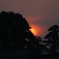 境川の夕日